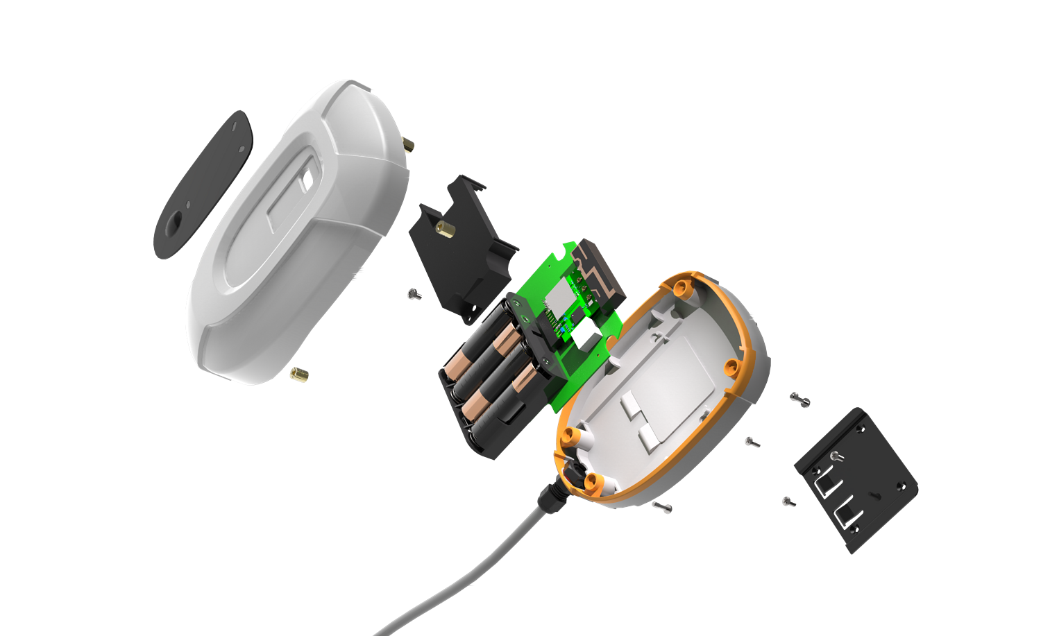 Exploded view of device components