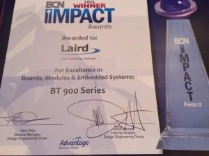 Laird Wins ECN Impact Award for BT900 Series