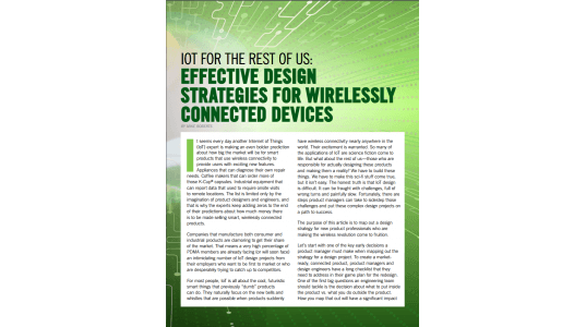 Article on Effective Design Strategies for the IoT Featured in Visions Digital Magazine