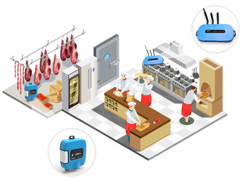 RS1xx and IG60 in cold chain use case - kitchen