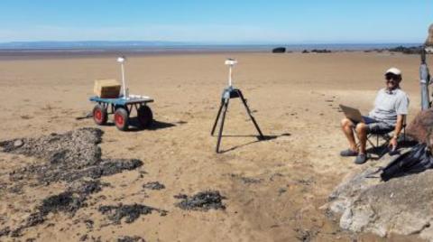 BL654 Range Testing - Hardware Setup on the Beach