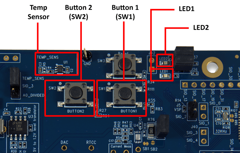 buttons and sensors