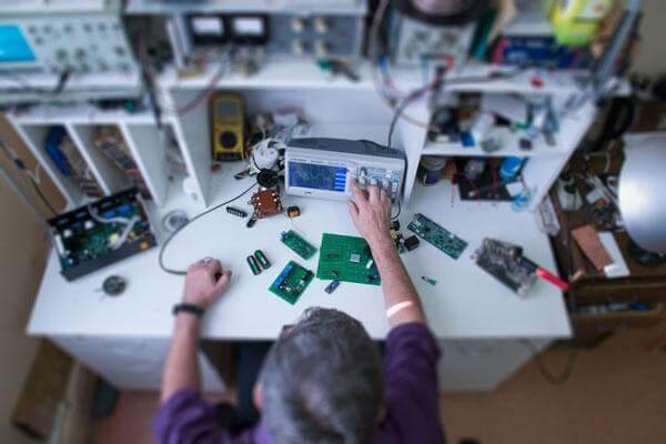 Designer at desk
