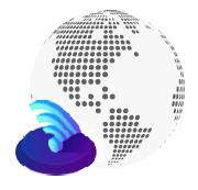 wireless icon and globe