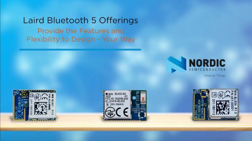 BL65x Bluetooth 5 family nordic chipsets