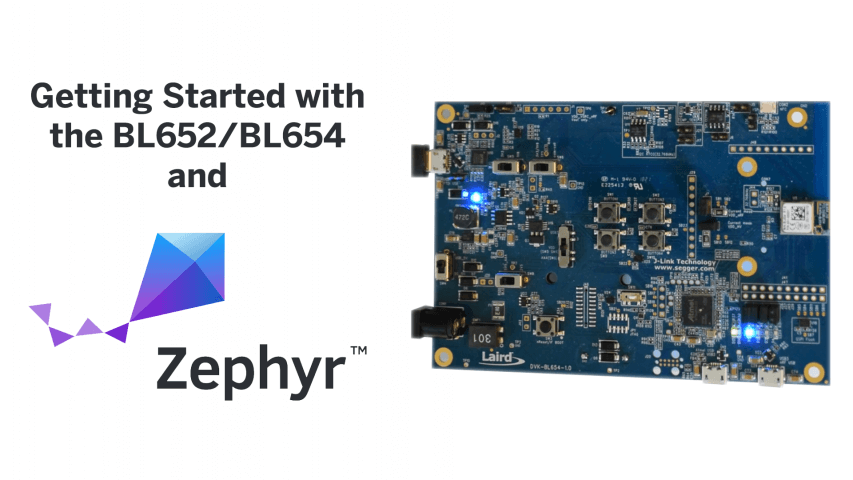 using zephyr on the BL652/BL654