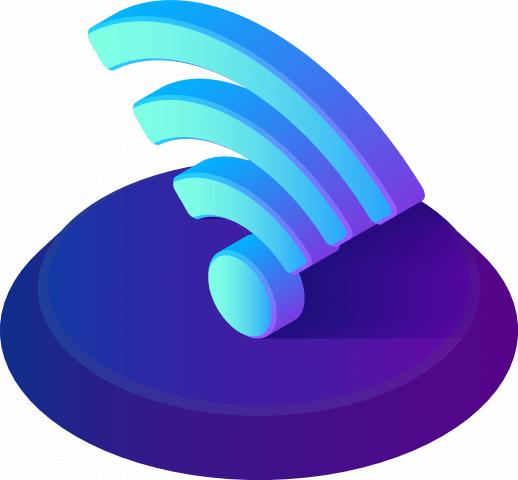 Wi-Fi symbol - isometric