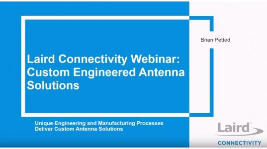 Custom Engineered Antenna Solutions Webinar