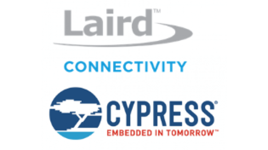 Laird Connectivity and Cypress logos
