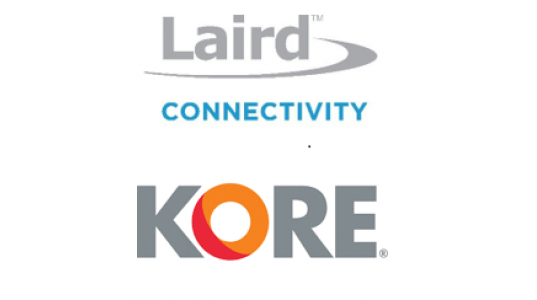 Laird Connectivity partnering with KORE - Logos